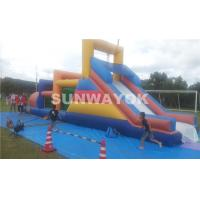 Cheap Huge commercial Inflatable obstacle course bounce house For Outside Entertainment for sale