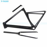 Cheap 7-tiger carbon road bike frame 700c Road Frame aero frame 480 mm  light frame with Customized color Zero offset seatpost for sale