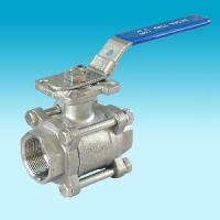 Cheap Screwed 3PC Ball Valve with ISO5211 Mounting Pad for sale