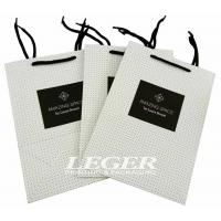 Cheap Paper Shopping Bags With Cotton Handles For Skin Care Products Packaging for sale