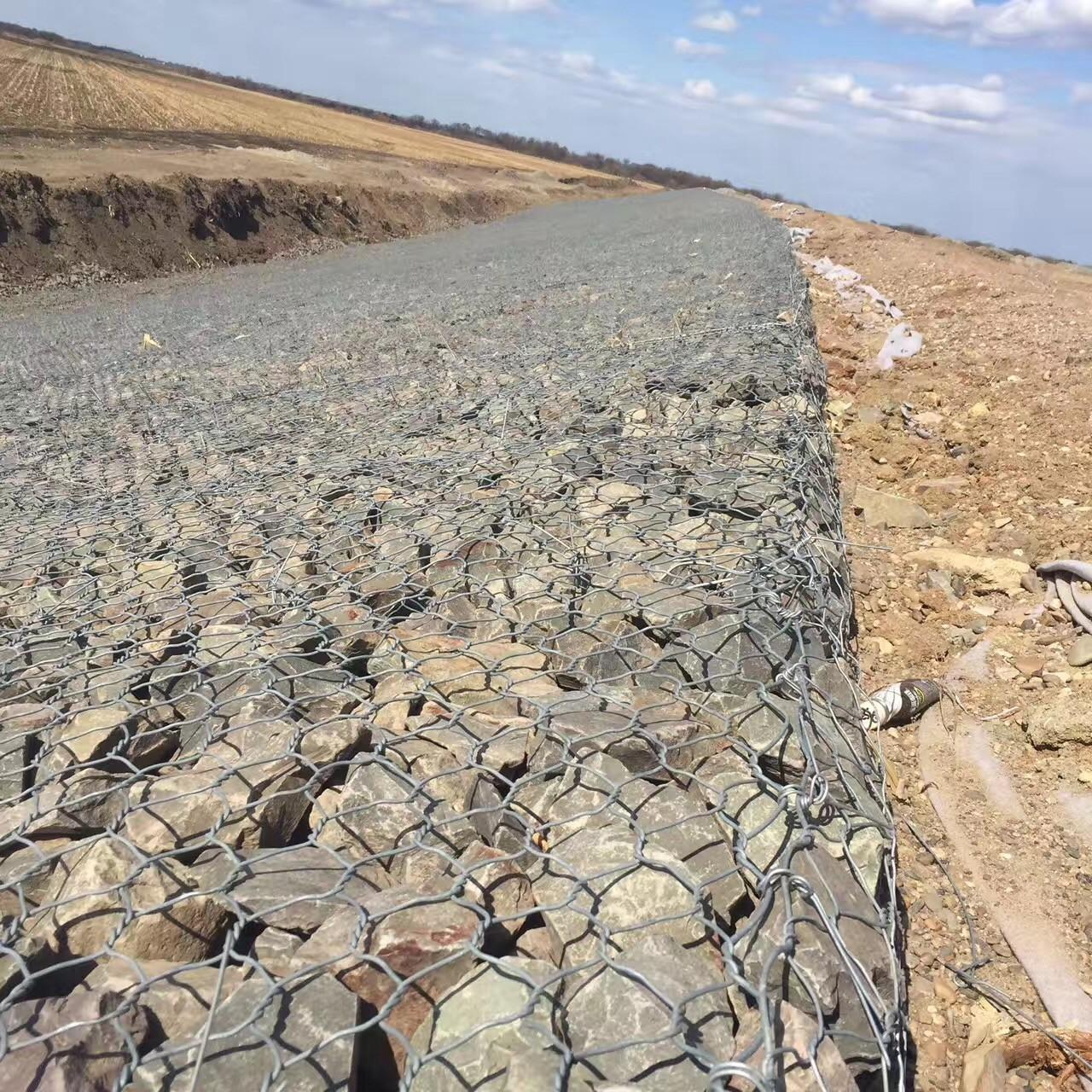 Buy cheap 60x80mm Hot-Dipped Galvanized Gabion Box 2x1x1mGabion Baskets from wholesalers