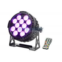 Quality IP65 Battery Powered LED Lights With Remote 12x12w RGBWA 6 In 1 For Events wholesale