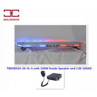 Cheap DC 12V/24V 80W Led Warning Light Bars With 100W Inside Speaker CE / FCC for sale
