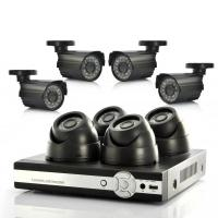 China 4 CH 520 TV lines CCTV DVR Surveillance System , Standalone DVR With 10 LCD Monitor on sale