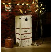 Cheap Retro Vintage Leather Storage Steamer Trunk With Drawer Chest Full Handcrafted for sale