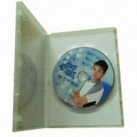 Cheap CD/DVD disc replication with clear plastic DVD case, cellophane packaging for sale