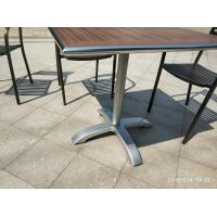 Cheap 26'' Aluminum Table Base Outdoor Furniture Cross Base Silver Surface for sale