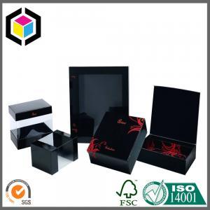 Quality Clear Plastic Window Black Matte Color Print Paper Gift Chipboard Box wholesale