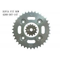 Cheap 36T-14T Motorcycle Sprockets And Chain Kits 1045 Steel And With Thermic Treatment for sale