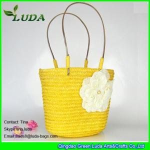 Cheap light yellow handmade wheat straw designer handbags for less for sale