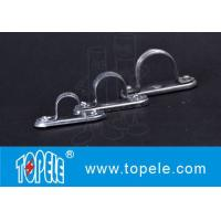 Quality Galvanized Steel Spacer Bar Saddle With Base / 20mm Diameter Conduit Clamp wholesale