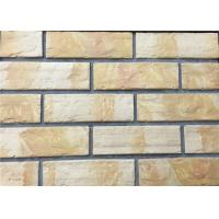 Cheap 3D12-1 Interior Thin Lightweight Brick Veneer , Outdoor Artificial Brick Tiles For Walls wholesale