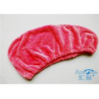 China Microfiber Magic Self-Drying Hair Wrap Towel 80% Polyester , Hair Drying Cap on sale