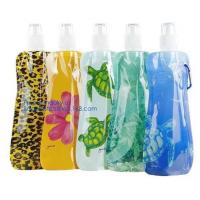China Portable ultralight foldable soft flask bottle outdoor sport hiking camping water bag,sport foldable 480ml reusable camp on sale
