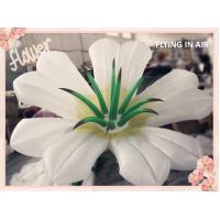 3m White Oxford Inflatable Flower for Event and Stage Decoration