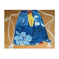 China Portable Beach Towel Drawstring Bag Reactive Printing With Smooth / Dot Embossing on sale