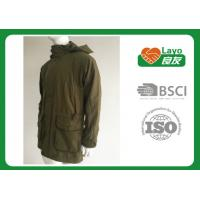 Cheap Olive Color Waterproof Shooting Jacket 100% Polyester Windbreak Thermal For Men for sale