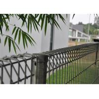 Cheap hot dipped galvanized BRC welded mesh panel fencing, roll top fence, decorative public park fence for sale