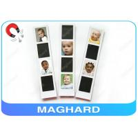 Cheap Blank Magnetic Photo Frame Collage , Baby Fridge Magnets with Epoxy OEM for sale