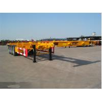 Cheap 3 axle skeletal chassis skeletal semi trailer supplier for sale