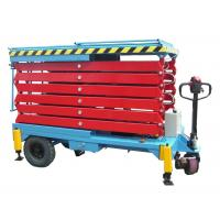 Cheap 14M Mobile Hydraulic Scissor Lift with Motorized Device Loading Capacity at 450Kg for sale