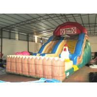 Cheap Inflatable the farm themed standard dry slide top inflatable dry commercial slide for children under 15  years for sale