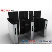 China Access Control Turnstile Security Gates Tempered Glass Sliding Material on sale