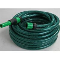 Buy cheap PVC Garden Hose Pipe Fiber Braided Reinforced With Plastic Connector Fittings from wholesalers