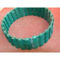 Cheap Custom Green Razor Barbed Wire Roll Anti Rust 2.0mm - 2.5mm Wire Diameter for sale