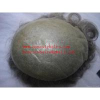 Cheap Full skin natural mens' toupee for sale