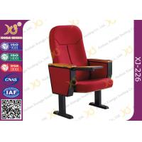 Wooden Back Cold Rolled Steel Feet Auditorium Theatre Seating Chair