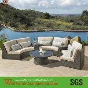 Supply Half-Circle Rattan Sectional Sofa, Rattan Wicker Sofa, Chinese Manufacturer