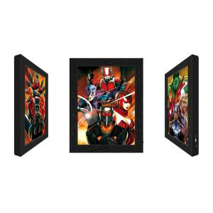 Cheap Outdoor LED 3D Lenticular Pictures With Marvel Movie Character for sale