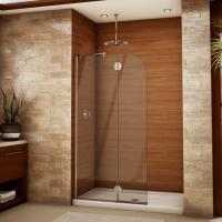 Cheap Modern tempered glass white line glass Shower Room compact shower enclosure for sale