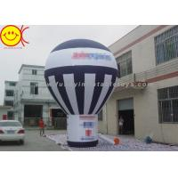 Cheap Giant Black And White Inflatable Ground Balloon Commercial Grade For Advertising for sale