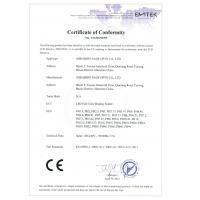 Shenzhen Sage Opto Co., Ltd Certifications