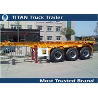 Cheap 3 Axles 20 ft  Skeletal container semi trailer with 30 tons load capacity for sale
