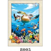 Cheap Stunning Sea World Animals Painting 5D Pictures / Lenticular Photo Printing for sale