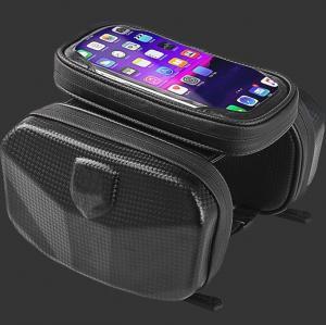 China Cycling Black Bike Hard EVA Case Handlebar Bar Bag Waterproof Touch Screen Phone Box on sale