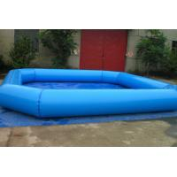 Buy cheap Fireproof Backyard Blue Inflatable Family Pool For Adult , Inflated Toys Pools from wholesalers