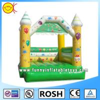 Cheap Mini Happy Commercial Bouncy Castles For Kids / Fun Backyard Bouncers for sale