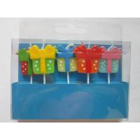 Cheap 5 Pcs Decorating Candles Star / Dots / Triangle Multi Coloured Printer Paraffin for sale