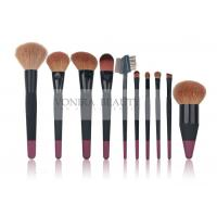 Cheap 10 pcs Custom Professional Makeup Brush Set With Nature Hair And Duel Colors Wood Handle for sale