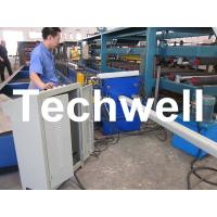 Cheap PLC Frequency Control System Rainspout Roll Forming Machine for Rainwater Downpipe for sale