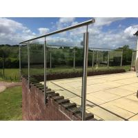 Cheap Stainless Steel Post for Glass Railing/ Glass Balustrade for Exterior Using for sale