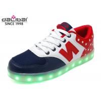 Cheap Size 38 Custom LED Casual Shoes Light Up Flashing Sneakers Flat Heel For Men for sale