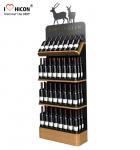 Cheap Freestanding Custom Wooden Wine Display Rack For Liquor Store Advertising for sale