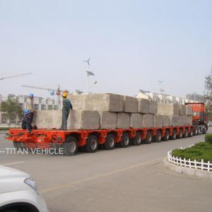 Cheap Hydraulic Multi Axle Modular Trailer for sale