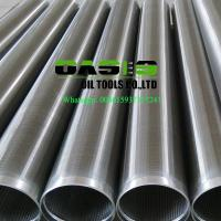 Plain end 316L Johnson type v wire water well screens for water well drilling