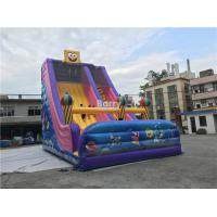 Cheap Commercial Kids Inflatable Slide , Custom Inflatable Cartoon Dry Slide For Party for sale